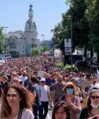 Nantes :la foule contre le pass sanitaire et la dictature