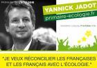 Primaire de l'�cologie Yannick Jadot, candidat � l'�lection pr�sidentielle � Nantes vendredi