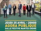 Yannick Jadot à Nantes en réunion publique sur le thème protéger « notre alimentation »