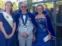 Le roi et la reine du carnaval de Bexbach et la princesse du jardin des fleurs