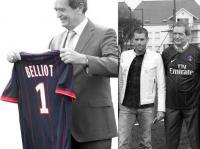 Sylvaine Armand remet le maillot à Robert Belliot