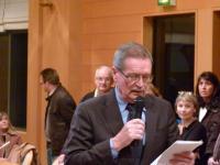 Robert Belliot prononçant les résultats