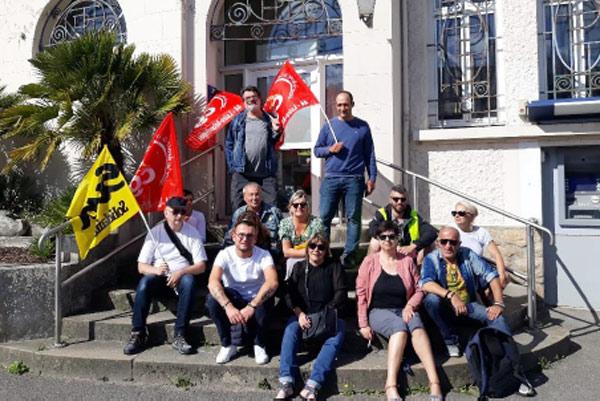 Le personnel de la poste en grève à Pornichet et Saint-Nazaire 20 juin 2019