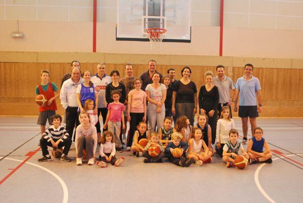journée familiale mini-poussines à l'ES Pornichet Basket