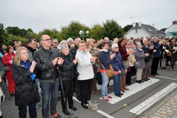 A Pornichet, hommage aux victimes des attentats du 13 novembre 2015 à Paris