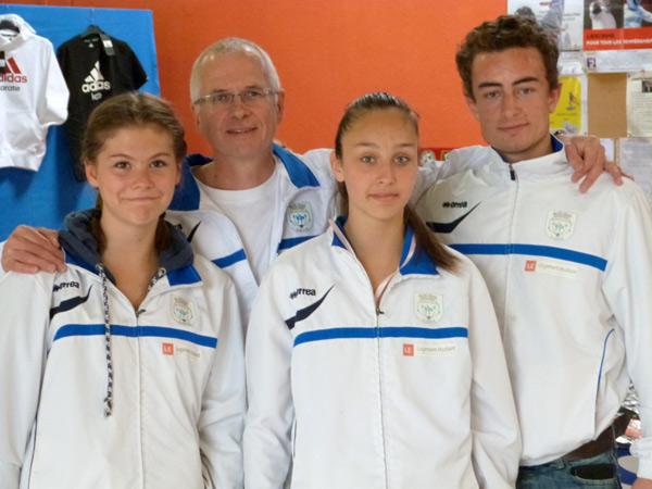 Iroise, Daniel GUENNEUGUES - président du club, Fiona et Baptiste