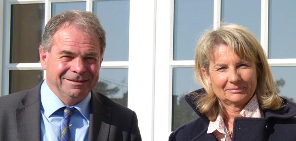 Jean Claude Pelleteur Maire et Frédérique Martin 1ère adjointe