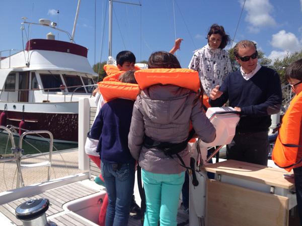 Etienne Germain, directeur général de La Baule Nautic insiste sur l'importance de la sécurité en mer