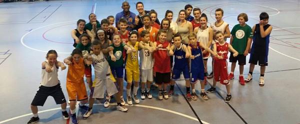 Les stagiaires de Pornichet Basket