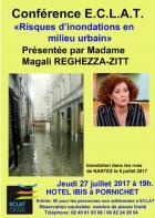 Conférence-Débat : E.C.L.A.T reçoit Magali REGHEZZA-ZITT « Les risques d'inondations en milieu urbain »