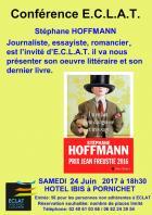Stéphane Hoffmann «Sa vie d'essayiste, d'écrivain, de journaliste … »  invité d'ECLAT