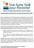 Une autre voie pour Pornichet remercie ses électeurs et demande la mobilisation des élus