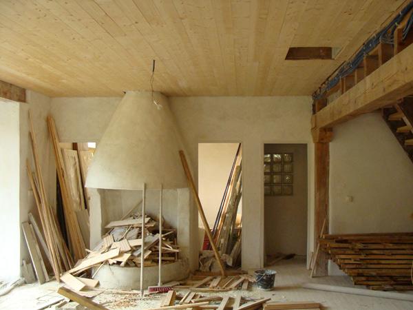 intérieur en chaux-sable