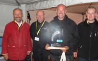 Yannick Haury avec les vainqueurs Le Danemark