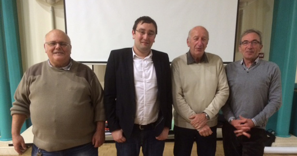 Michel Foucher, Bruno Potier, René Harre et Jean-Pierre Gournay