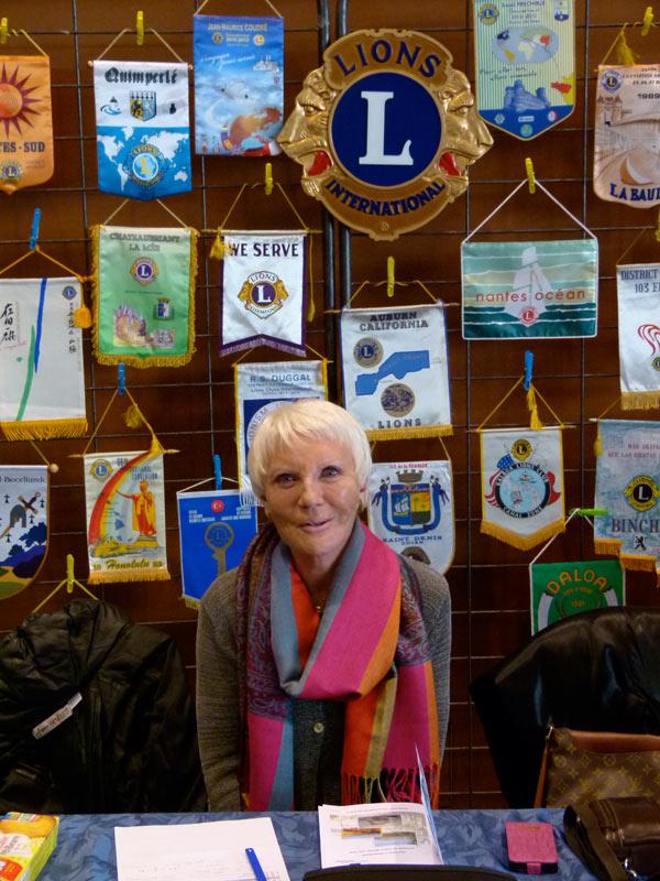 Madame Terry Rallier Présidente du Lions club