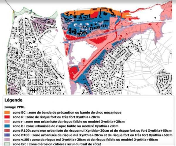 Le plan de prévention des risques littoraux de la côte de Jade à Saint-Brevin-les-Pins. ©Préfecture de Loire-Atlantique