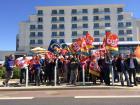 Manifestation des salariés de la Cité sanitaire