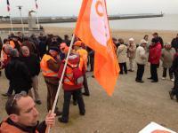Le rassemblement de la CFDT sur le front de mer