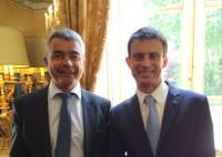 David Samzun reçu par le premier ministre Manuel Valls pour la signature du pacte culture