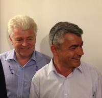 David Samzun félicité par Philippe Grosvalet