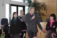 Les lycéens ont notamment été accueillis par le maire adjoint Eric Provost.