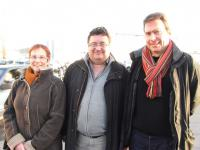 Catherine Rougé, Alain Manara et Yvon Renevot.