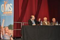 Xavier Martial (à gauche), aux côtés de Michel Laurent, ne s'attendait sans doute pas à ce que la présentation du parc aquatique suscite autant d'interrogations