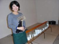 L'étudiante des beaux-arts Makiko Fruity.