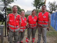 La Croix rouge sur le festival des Terres blanches.
