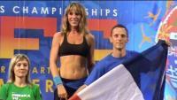 Séverine Attimon sur la plus haute marche du podium