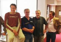 Thierry Brulavoine, Eric Edom, (Label gauche) Augustin Grosdoy, Lionnel Debray (Front de gauche)
