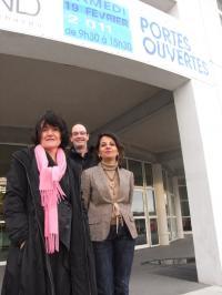 Annie Castagné, la proviseure, Daniel Dréau, chef des travaux, et Corinne De Zotti, proviseure adjointe.