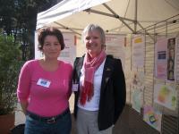 Patricia Racineux, bénévole à Entraide cancer 44 et le Docteur Corinne Allioux de Cap santé + 44