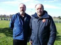 Bernard Lemaître, (à gauche), et le Trignacais Jean-Pierre Lemaire, responsable technique à la ligue