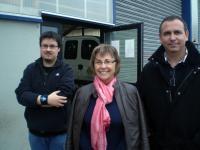 Sylvie Camus, directrice de l'APIE entourée de Bruno Butista, responsable technique et de Anthony Noel du pôle administratif