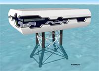 Sous-station électrique d'éolienne marine Watteole