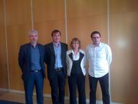 Xavier Perrin, Thibault Guyonnet Duperat, Christelle Moyon et Fabrice Bazin annoncent l'ouverture de l'établissement pilote ABA pour les jeunses autistes