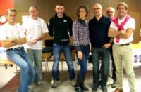Le nouveau bureau de gauche a droite: Eric André, Jean-Yves Ollivier, Luc Marchal, Bertrand Fily,Josiane Méchineau, Alain Violet, Jean-Luc Dumusoy