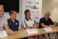 Éric Provost, Benjamin Toniutti, Laurent Tillie et Dominique Hamon (de gauche à droite)
