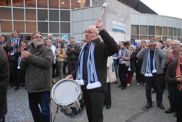 Les supporters étaient nombreux pour ovationner l'équipe