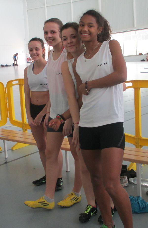L'équipe des cadettes du 4 x 200 m est vice-championne régionale