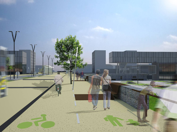 D'ici à la mise en service de la ligne, le centre-ville va changer de visage.