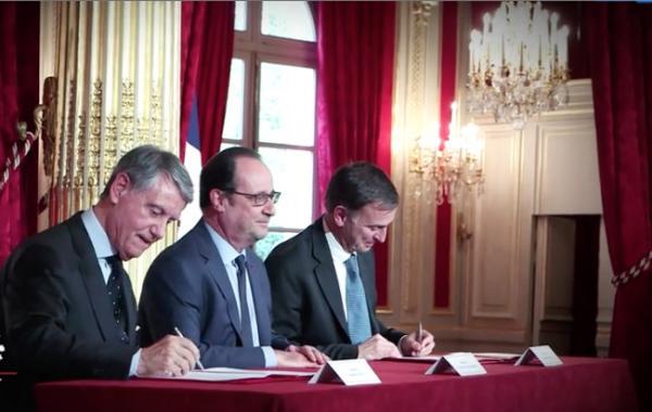 Gian Luigi APONTE, François HOLLANDE, Laurent CASTAING