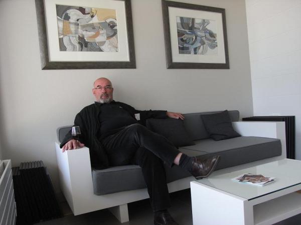Gérard Fruneau dans son nouvel atelier.
