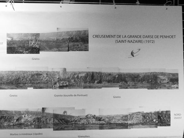 En creusant la grande darse à Penhoët en 1972 du marbre a été trouvé.