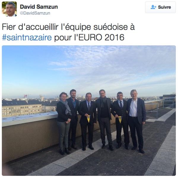 Tweet du maire de Saint-Nazaire, David Samzun
