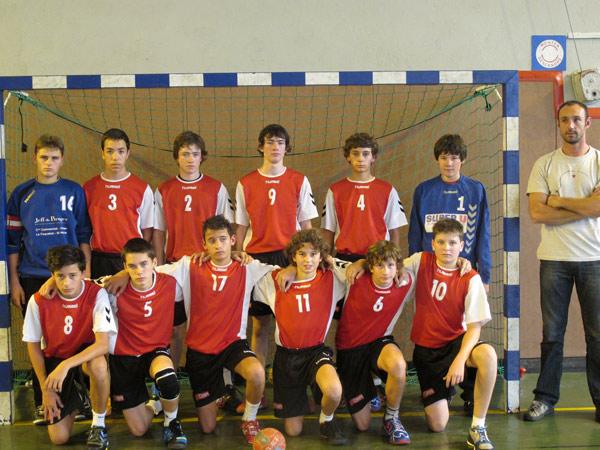 L'équipe des - de 15 ans du Saint-Nazaire handball