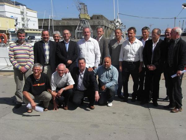 Les présidents des clubs organisateurs, élus et membre du service des sports de la Ville.