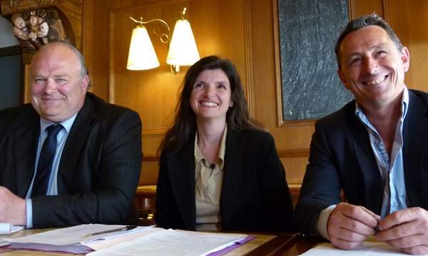 William Duval (UMP), Sandra Vandeuren (UMP), Pierre-Yves Vincent (UDI)